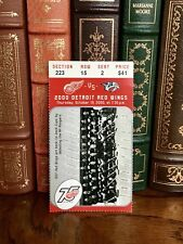 Buffalo Sabres vs Detroit Red Wings Ticket Stub October 19, 2000 Joe Louis Arena