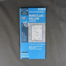 Carte IGN 2338 E - Série Bleue - Marcillac-Vallon ( Aveyron )