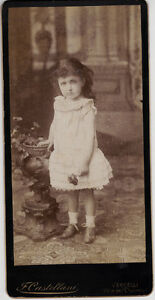 Little girl portrait with a flower in her hand Vercelli  1890cF. Castellani L485