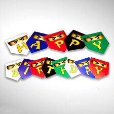 Ninja Card 'HAPPY BIRTHDAY' Banner -  Party decorations, supplies