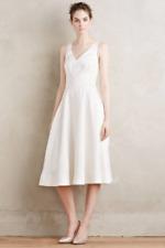 NEW Anthropologie Moulinette Soeurs Dancette Dress White Fit Flare 6P $368