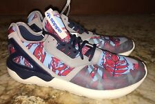 ADIDAS Tubular Runner Lifestyle Casual Blue Grey Red Shoes Sneakers NEW Mens 8