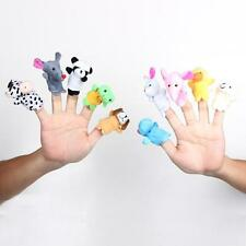 10x Family Finger Puppets Cloth Doll Baby Educational Hand Cartoon Animal Toy