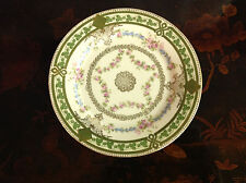 Vintage Antique Imperial Crown China Austria Porcelain Plate w Floral Decoration