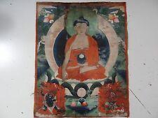 ANTIQUE   MONGOLIAN BUDDHIST THANGKA PAINTING of BUDDHA