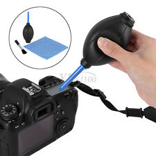 Lens Protective Cleaning Cleaner Dust Blower Brush Cloth Kit For DSLR Camera BT