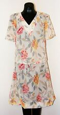 Very Nice 1970s Vintage Sheer Floral Dress- size 5