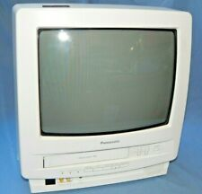 """Panasonic Omnivision PV-M1324W 13"""" CRT TV VHS VCR Combo Television White, Gaming"""