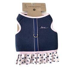 New listing Ed Ellen Degeneres Comfort Harness Female Dog Sz S Love Sweater Skirt Ehn-920S