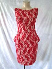 "Beautiful  ""REVIEW""  Red Lace Cocktail Dress Size 12"