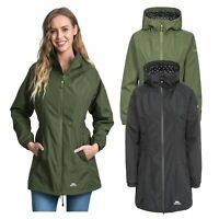 Trespass Womens Parka Jacket Hooded Waterproof Longline Coat Polka Dot