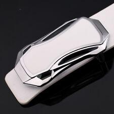 Luxury Men's Silver Alloy Sports Car Strap Belt Buckle Fashion Pin Buckle