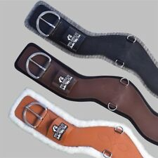 NEW Total Saddle Fit Shoulder Relief Cinch - BrownLeather - White Fleece Size 28