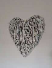 Custom Wooden Stick Love Heart Wall Hanging Sign Wicker please ask for size