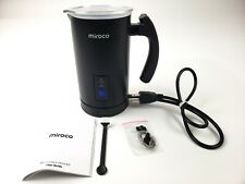 Miroco Black Milk Frother Electric Milk Steamer Stainless Steel MI-MF001 120V