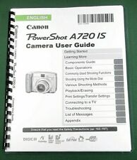 Canon PowerShot A720 IS Instruction Manual: 211 Pages & Protective Cover