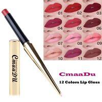12 Colors Matte Lipstick Waterproof Long Lasting Makeup Tube Liquid Cosmetic--