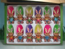 "CASE OF 12 EASTER GLO TROLLS - 4"" Soma Troll Dolls - NEW IN BOX - Eyes Light Up"