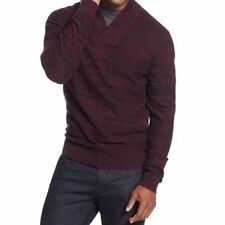 Alfani Mens Sweater Sz S Port Combo Cotton V-Neck Henley Pullover Sweater