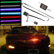7 Color 56cm 48 LED RGB Scanner Flash Car Strobe Knight Rider Kit Light Strip US