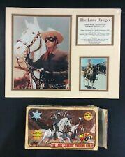 LONE RANGER TRADING CARD BOX + PHOTO PRINT TONTO SILVER LOT CLAYTON MOORE COWBOY