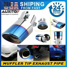 Auto Car Exhaust Pipe Tip Tail Muffler Stainless Steel Replacement Accessories E