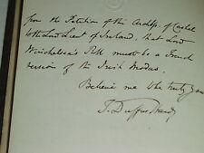 SIGNED Thomas Duffus Hardy 1846 MODUS TENENDI PARLIAMENTUM; SCARCE SIGNED LETTER