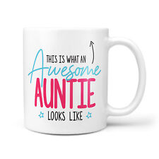 Awesome Auntie Gift Mug - Birthday Presents for Auntie's, Gifts for Women, Mugs