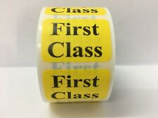 500 Labels .875x1.25 Yellow FIRST CLASS Mailing Shipping Retail Stickers