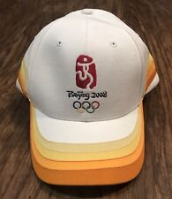 Beijing 2008 Olympics Rings Olympic Games Summer China White Ball Hat Cap