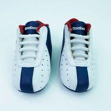 Vintage Reebok Slip On Baby Leather Infant Red Sox Logo Crib Shoes Sz 2 1dfe28d46