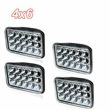 "4PCS 4x6"" LED Headlights W/ Amber Light For Camaro Monte 1975-1985 Buick Riviera"