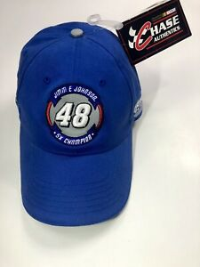NEW Jimmie Johnson 48 Hendricks Lowes NASCAR Racing Pit Hat Cap Chase Authentics
