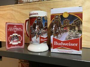 2020 Budweiser Holiday Stein Limited Edition 41st Anniversary Bud Mug