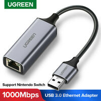 UGREEN Network Adapter USB3.0 2.0 to Ethernet RJ45 Lan Gigabit Adapter for Win10