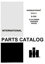 International Farmall 786 826 886 2826 D-358 8 Cyl Diesel Engine Parts Manual IH
