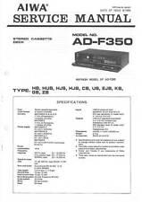 AIWA AD-F350 AD F350 - CASSETTE DECK - SERVICE MANUAL IN COLOR VERSION -