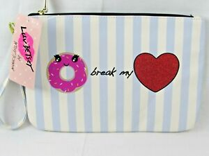 Betsey Johnson Womens Donut Pouch Wristlet Wallet LUV BETSEY