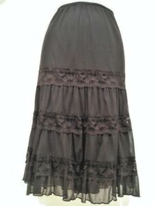 NECESSARY OBJECTS Ady Gluck-Frankel Skirt Size L Fully Lined Color: Brown