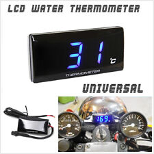 12V Motorcycle Scooter Blue LCD Digital Thermometer Water Temp Temperature Gauge