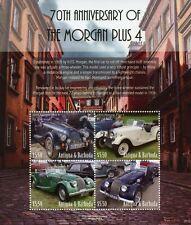 More details for antigua & barbuda cars stamps 2021 mnh morgan plus 4 70th anniv 4v m/s