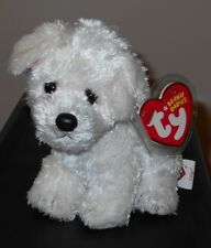 Ty Beanie Baby - CARGO the White Dog (6 Inch) MINT with MINT TAGS