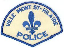 Ville Mont St-Hilaire Police, Quebec, Canada HTF Vintage Uniform/Shoulder Patch