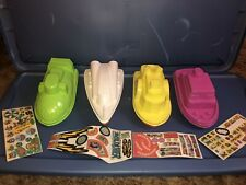 "Rare Vtg McDonalds Happy Meal ""Ship Shape� Plastic Boats & Sticker Sheets 1983"