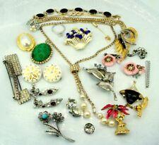 LOT Vintage Craft Repurpose Jewelry Some signed Coro