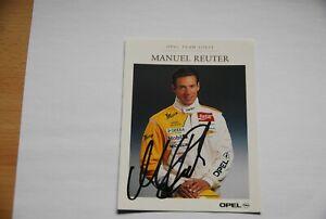 Motorsport Autogrammkarte OPEL MANUEL REUTER Fanartikel Sammlerstück