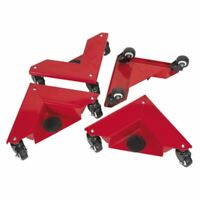 Sealey CM4 Corner Transport Dollies Set of 4 150kg Capacity
