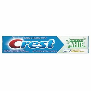 Crest Fresh and White Toothpaste, Peppermint Gleem Paste, 6.4 oz - USA Import