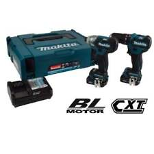 MAKITA CLX205AJ 10.8v CXT 2 Piece Brushless DRILL DRIVER KIT 2 BATTERIES CHARGER