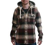 SUPERDRY Lumberjack Hoodie Heavy Shirt Detachable Hood Size Small